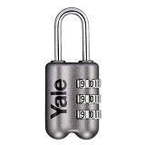 YALE Travel Lock [YP2/23/128/1G] - Grey - Gembok Kombinasi